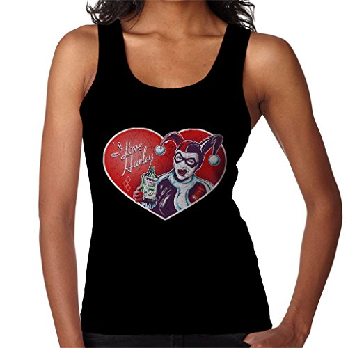 (I Love Harley Quinn Pin Up Classic Jester Outfit Women's Vest)