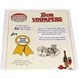 Home Brew & Wine making - 15cm Vinpapers - Filter Papers for the Vinbrite Filter Kit - Pack Of 50