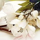 Blanco del perfume del lirio de la boda del ramo de la flor artificial / los sepulcros