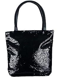 a45de462d1256 mygoodtime  Viele Farben Pailletten Tasche Shopper Einkaufs-Strandtasche Metallic  Glitzer