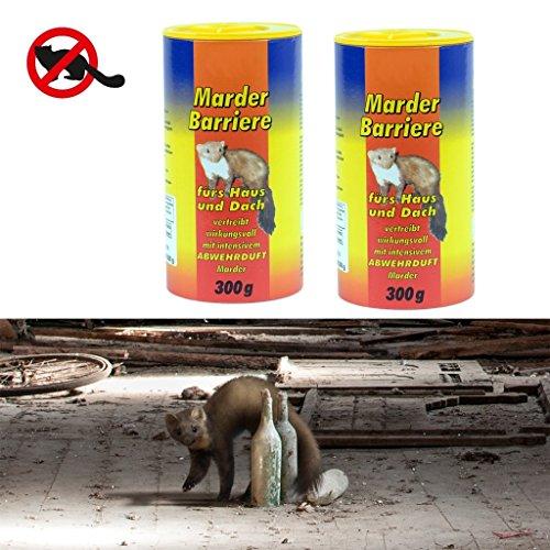 Preisvergleich Produktbild Gardigo Marder-Stopp Granulat 2x 300 g Dose, Marderschreck, Marderabwehr, Marderschutz