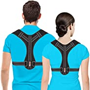 Corrector de postura para hombres y mujeres, soporte de espalda superior para soporte de clavícula, enderezado
