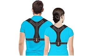 Correttore posturale per uomini e donne, supporto per clavicola, raddrizzatore posteriore regolabile e sollievo dal dolore da collo, schiena e spalle, (universale)