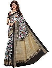 Fragrance Trendz Women's Bhagalpuri Silk Printed Saree With Blouse Piece.