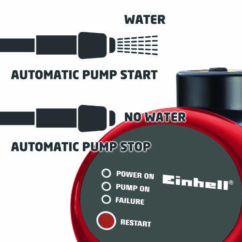 Einhell RG-AW 6536 Hauswasserautomat, 650 Watt, 3750 l/h Fördermenge, Edelstahlanschluss - 4