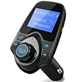 FM Transmitter, [Update Version] PICTEK LED Bluetooth MP3 Player FM Transmitter Hands-free Car Kit Charger For Apple iPhone SE 6s 6s Plus, Samsung Galaxy S6 S7 Edage, Note 7 iPad, HTC, for Samsung, Other Smartphones, Black