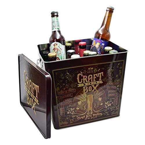 Craft Bier Bierbox (12 unterschiedliche Biere 0,33l verpackt in einer hochwertigen Metallbox) -