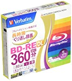 Verbatim Mitsubishi 50GB 2x Speed BD-RE Blu-ray Re-Writable Disk 5 Pack - Ink-jet printable - Each disk in a jewel case (japan import)