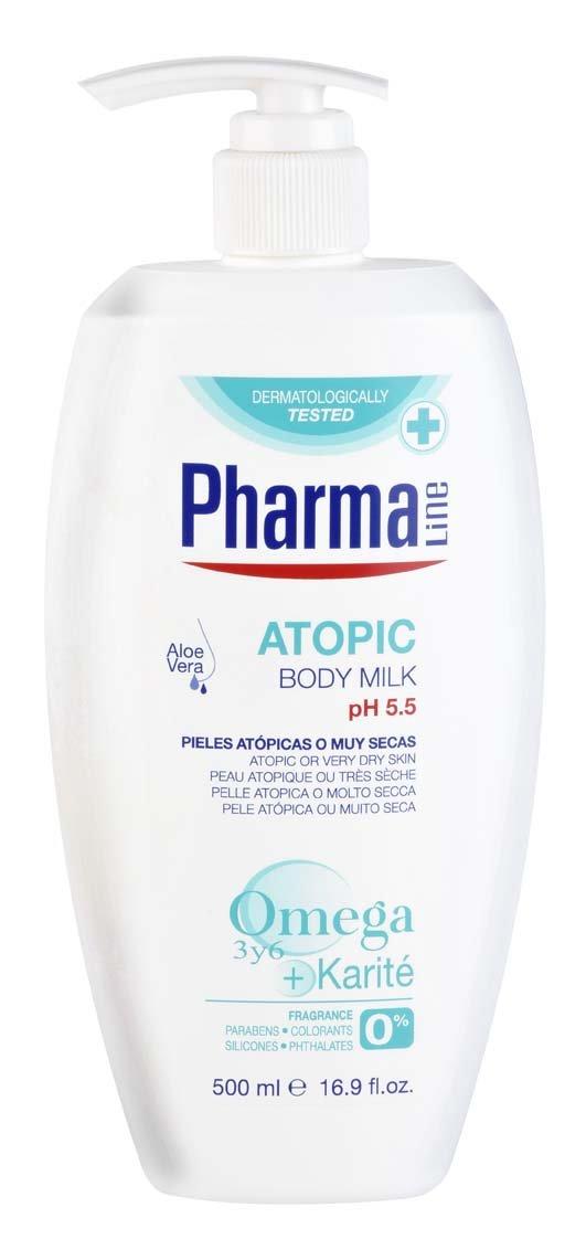 PHARMALINE leche corporal atopic dosificador 500 ml