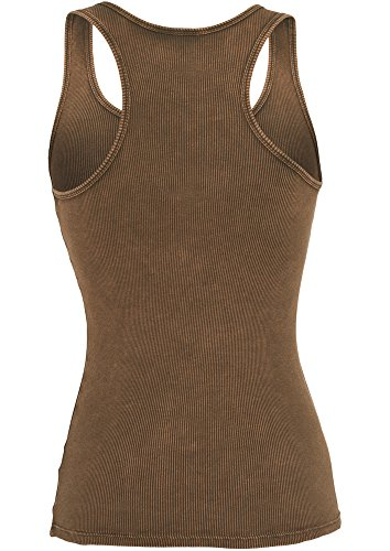 Urban Classics Damen Sport Tank Top Ladies Faded Tanktop Grün