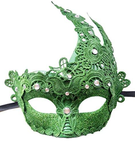 Venezianischen Göttin Maskerade Masken Halloween Party Makramee Schnüren & Strasssteine Maskerade Masken (Göttin Grüne Kostüme)