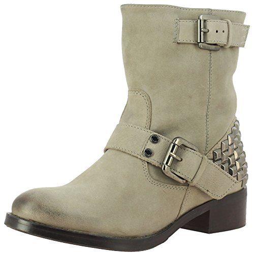 Saint G Women's Grey Leather Ankle Boots