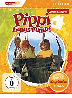 Astrid Lindgren: Pippi Langstrumpf - Spielfilm-Komplettbox [4 DVDs]