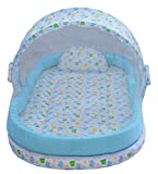 Amardeep and Co Mattress with Mosquito Net and Bumper Guard (Blue) - NT-06-blue For 0-2 Years baby By Nagar International
