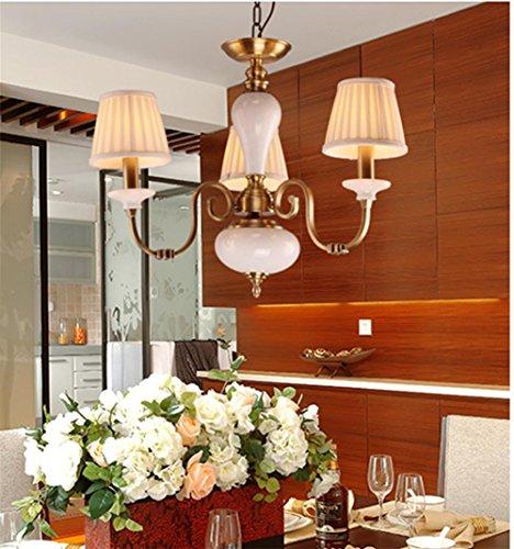 Suspensions Cuivre tissu plafond lampe chambre salon plafonnier LED lustres de plafond lampes de plafond lustres