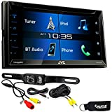 "JVC KW-V330BT 6.8"" Double DIN Bluetooth in-Dash DVD/CD/AM/FM/Digital Media Car Stereo with Rear View Camera"