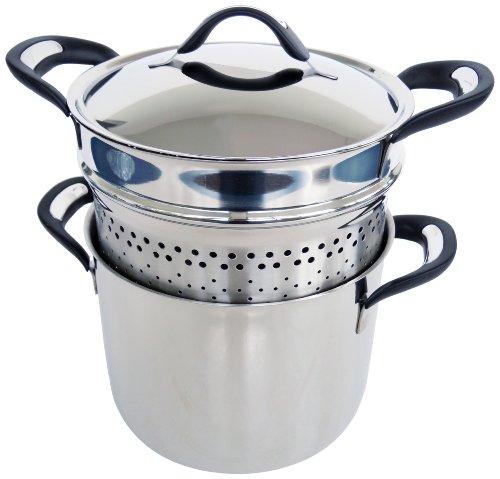 Barazzoni 28504902280 hervidor para hacer pasta, diámetro 22 cm, gama de silicona Pro acero