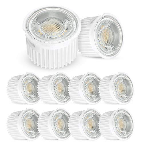 10x ultra flaches 5W LED Leuchtmittel Modul (33mm) 230V für Einbauleuchten Rahmen als GU10 Ersatz mit 470 Lumen neutralweiß 4000K -
