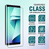 SGIN Samsung Note 8 Screen Protector, [2 Pack] Ultra Thin High Definition HD Clear Note 8 Tempered Glass Screen Protector, Anti-Fingerprint, Bubble Free, Touch Sensitive, Anti Shatter 9H Hardness Protector Film - Transparent