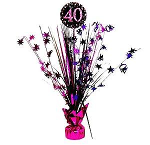 Amscan, 9900599. Centro de mesa, celebración de 40º cumpleaños, 33cm