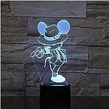 Usb 3D Led Luce Notturna Mickey Mouse Figura Bambini Regalo Per Bambini Baby Nightlight Danza Azione Michael Jackson Lampada Da Tavolo Camera Da Letto