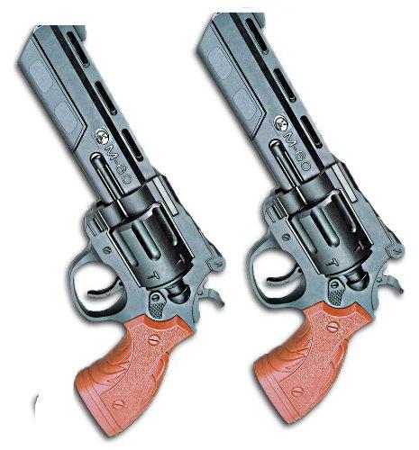 Nerd Clear Softair Pistolen 2 Stück Revolver M60A Federdruck schwarz braun Schüttmagazin ca. 24 cm 6 mm unter 0,5 Joule ab 14 ()