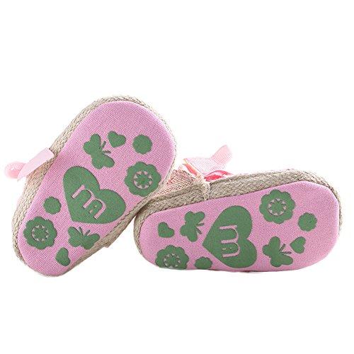 WAYLONGPLUS Baby Mädchen weiche Sohle Anti-rutsch Prewalker Schuhe Pink