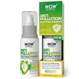 WOW Anti Pollution SPF 40 Water Resistant No Parabens & Mineral Oil Sunscreen, 100mL