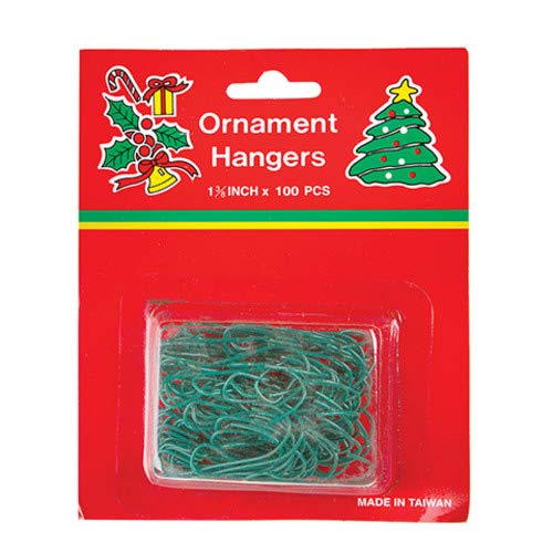 Darice Green Christmas Tree Ornament Hanger Hooks Pack of 100