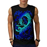 Fantasy Dragon Throne Myth Game Men NEW S-2XL Sleeveless T-shirt | Wellcoda