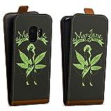 DeinDesign Tasche Hülle Flip Case kompatibel mit Samsung Galaxy S9 Maryjane Marihuana Hanf