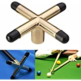 AST Works Billiards Table Cue Brass Cross & Spider Holder Rest for Pool Snooker Billiard