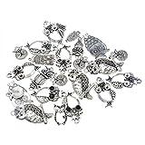 Souarts 1 Set Antik Silber Farbe Eule Schmuckzubehör Basteln Charms Anhänger Für Halskette Armband 10St