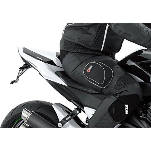 QBag Thigh Bag Arm- / Beintasche zum Motorradfahren, Rutschfest, 2 kleine Einschubtaschen, kräftiges Klettband, reflektierende Keder, Schwarz, 0,4 Liter