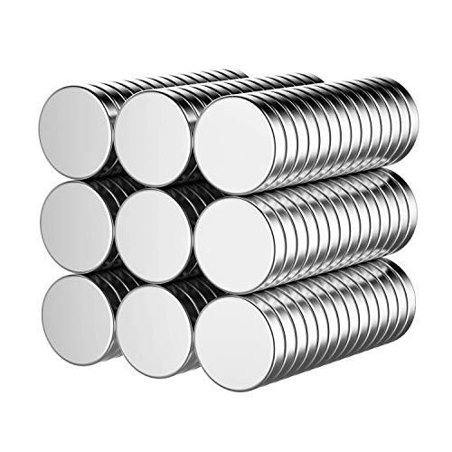 Neodym Magnete 60 Stück, Temporaryt Starke Permanent Magneten Mini 10mm, Runde Kleine Magnets für Whiteboard, Pinnwand, Magnettafel bänder, und vieles mehr - mit Aufbewahrungsbox