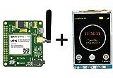PiTalk 3G IOT Aktiviert & Modular Smartphone Hat für Raspberry Pi, 3G/GSM Shield für Raspberry Pi (USA & Kanada Version) mit 8,1cm LCD-Display