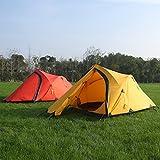 GEERTOP Alpine Campingzelt Trekkingzelt Kuppelzelt Zelt 20D Ultraleicht und Wasserdichte – 145 x 215 x 110 cm (2,59kg) – 2 Personen 3 Jahreszeiten Ideal für Camping Klettern Jagen (Rot) - 3