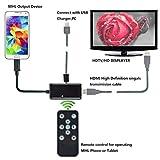 Genmine Micro-USB-MHL-auf-HDMI-Adapter mit Fernbedienung für Samsung Galaxy S3/S4/S5