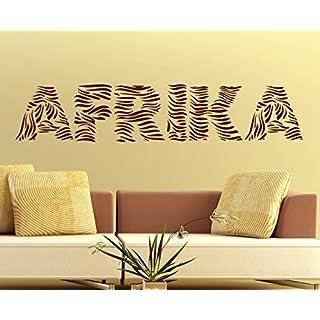arslinea Wandtattoo - Afrika Zebrastreifen, 150x30 cm, rot