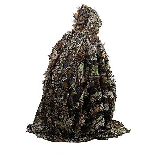 Lebensechte 3D Blätter Camouflage Poncho Mantel Stealth Anzüge Outdoor Woodland CS Game Kleidung für die Jagd Schießen Free People-poncho