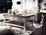 lifestyle4living Couchtisch, Wohnzimmertisch, Tisch, Salontisch, Kaffeetisch, Beistelltisch, Sofatisch, Kiefernholz, Recyclingholz, Massivholz, weiß, honigfarben