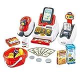 deAO Kit de supermarché avec Une Caisse enregistreuse avec Scanner, Une Carte de...
