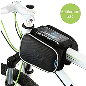 Marco de Ciclismo Alforja Bolsa de teléfono celular, wotow frontales para bicicleta tubo superior pantalla táctil bolsa para sillín de bicicleta de carretera de montaña de rack Pack Doble Funda para teléfono móvil bolsas para Smartphone 5.7 inches