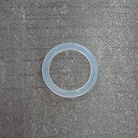 Silikonring für Schnullerketten Silikonadapter Schnuller mit Namen Befestigungsring speziell für halterlose Schnuller transparent KOSTENLOSER VERSAND