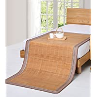 Doppelseitige Gebrauchsbett-Matte - Doppelseitige Bambusmatte 0,9 m Einzel-doppelseitiger Eisrock-Schlafsaal Zweiteilige Matte/Bambus-Filz-Matratze - natürlicher Bambus und Rattan Klappbett-Matte preisvergleich bei kinderzimmerdekopreise.eu