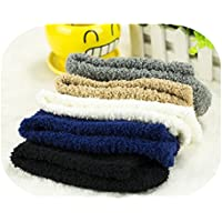 6 pairs Warm Winter Mens Soft Floor Home Man Bed Socks Pure Fluffy Thick Sock