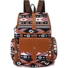 6848fecc23 JUND 2018 Donna Zaino Scuola Vintage Etniche Zaino Antifurto Fashion Casual  Daypack Elegante Boemia Viaggio Backpack