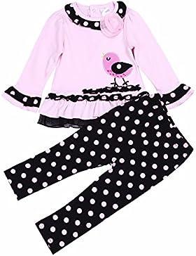 YiZYiF Babykleidung Baby Kinder Mädchen Bekleidung Set Niedliches Polka Dots Tops Langarmshirt und Hose Outfits...