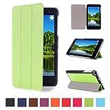 DETUOSI Huawei T1 7.0 Funda de Cuero,Verde Ultra Slim Funda Case de Cuero para 7'' Huawei MediaPad T1 7.0 Tablet Smart Cover Case Carcasa Piel con Stand Función