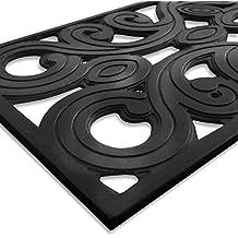Dehli Stufenmatte aus Gummi | mit prachtvollen Ornamenten | rutschhemmend | 25x75cm | verschiedene Stückzahlen (1 Stück)